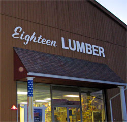 18 Lumber for all your wood, hardware, window and decking